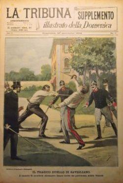 Il tragico duello di Savigliano, La tribuna Illustrata, 27 settembre 1896 (collezione privata)